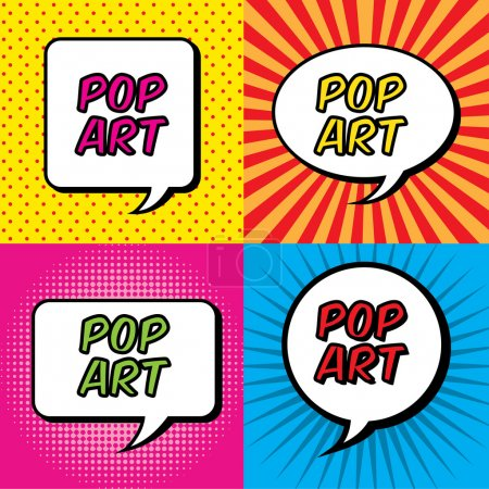 Illustration for Pop art explosion over colorful background. vector illustration - Royalty Free Image