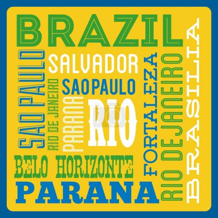 Brazil design over yellow background vector illust...