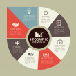 Infographics design over gray background vector il...