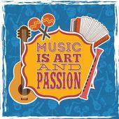 musical design over blue background vector illustration