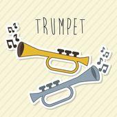 Musical design over lineal background vector illustration