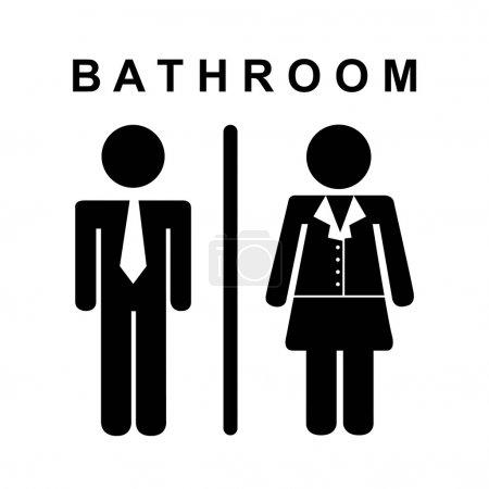 Illustration pour Design de salle de bains sur fond blanc illustration vectorielle - image libre de droit
