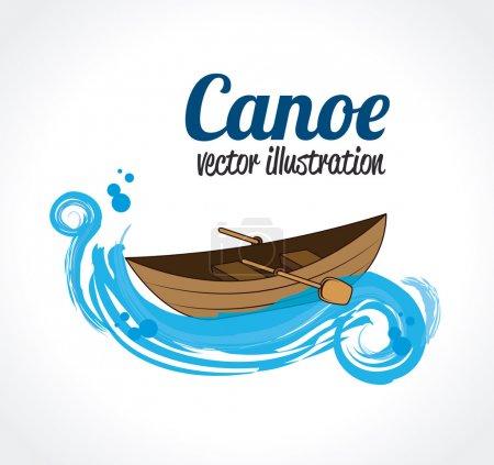 Illustration for Camping design over white background vector illustration - Royalty Free Image