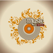 Musical design over gray background vector illustration