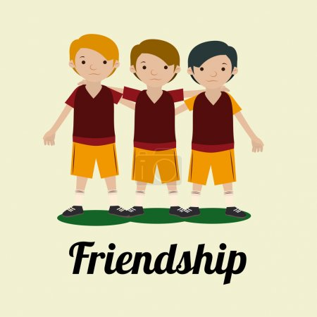 Friendship,design over white background vector ill...