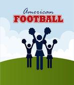 American football design over sky background vector illustration