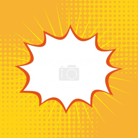 Illustration for Pop art over yellow background vector illustration - Royalty Free Image