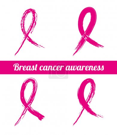 Illustration for Breast cancer over white background vector illustration - Royalty Free Image