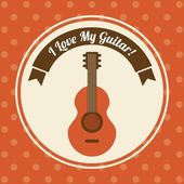 Musical design over dotted background vector illustration