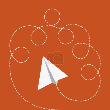 Illustration for Toys design over orange background vector illustration - Royalty Free Image