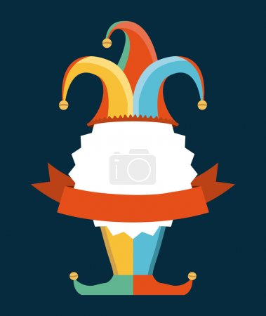 Illustration for April fools day over blue background vector illustration - Royalty Free Image