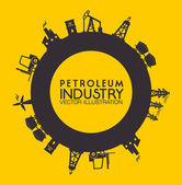 Industry design over yellow background vector illustration