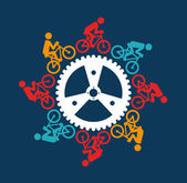 Cycling design over blue background vector illustration