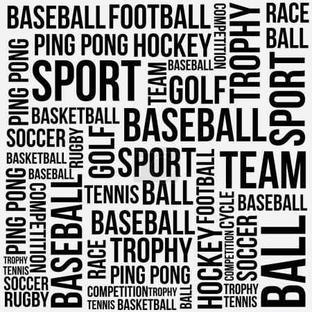 Illustration pour Conception de mots de sport au cours de l'illustration vectorielle fond blanc - image libre de droit