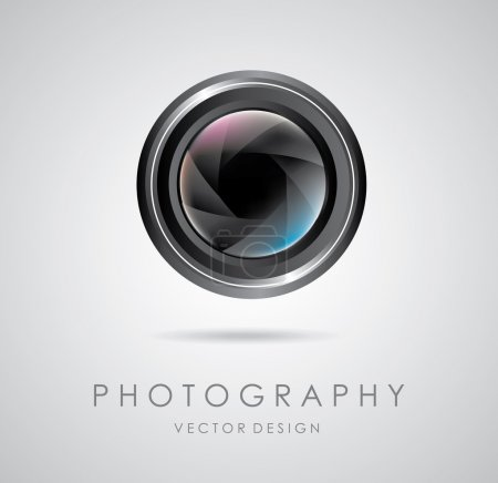 Illustration for Photography design over gray background vector illustration - Royalty Free Image