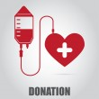 Donate blood  design over gray background vector i...