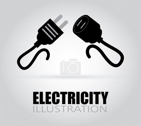 Illustration pour Design électrique sur fond gris, illustration vectorielle - image libre de droit