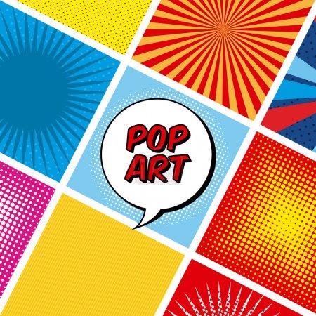 Illustration for Pop art design over colorful background, vector illustration - Royalty Free Image
