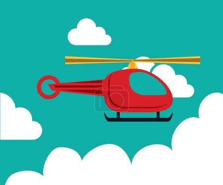 Illustration for Aircraft design over sky landscape background, vector illustration - Royalty Free Image