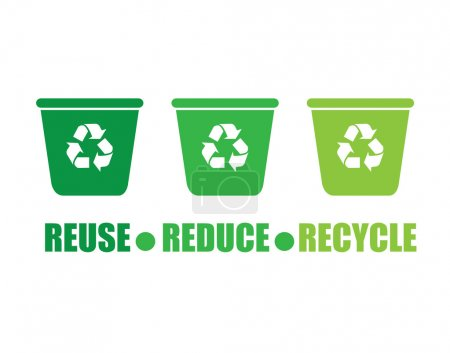 Illustration for Recycle design over white background, vector illustration - Royalty Free Image