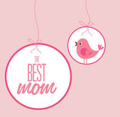 Mothers day design over pink background vector illustration