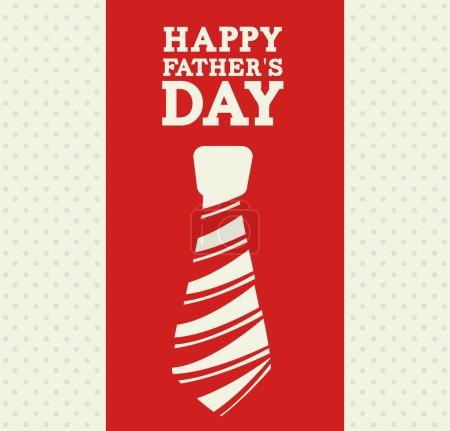 Illustration for Fathers day design over beige background, vector illustration - Royalty Free Image