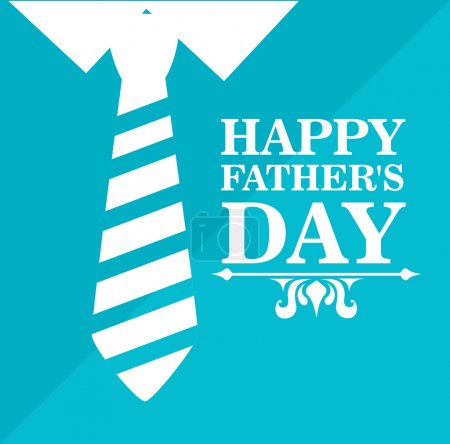 Illustration for Fathers day design over blue background, vector illustratrion - Royalty Free Image