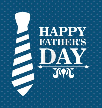Illustration for Fathers day design over blue dotted background, vector illustratrion - Royalty Free Image