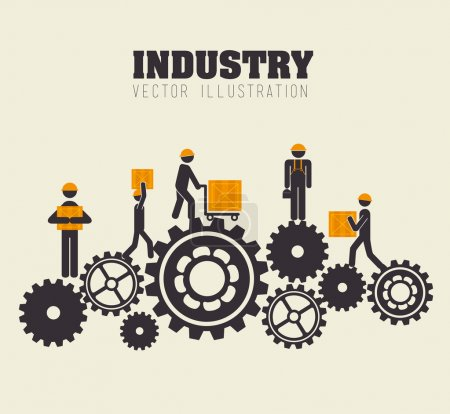 Photo for Industry design over beige background,vector illustration - Royalty Free Image