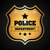 Police design over black background vector illustration