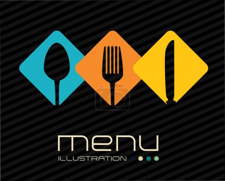 Illustration pour Restaurant design sur fond blanc, illustration vectorielle - image libre de droit