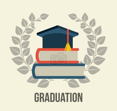 Illustration for Graduation design over white background vector illustration - Royalty Free Image