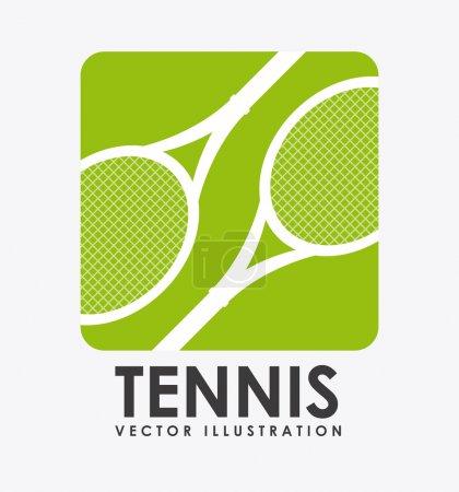 Illustration pour Conception de tennis sur fond vectoriel illustration - image libre de droit