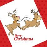 Christmas design over red background,vector illust...