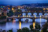 "Постер, картина, фотообои ""Прага ночью"""