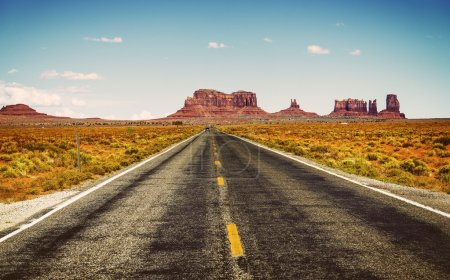 Photo for Famous road in southwest of america near Monument Valley tribal park, USA - Royalty Free Image