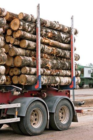 Photo pour Partie camion bûche. Plan vertical - image libre de droit