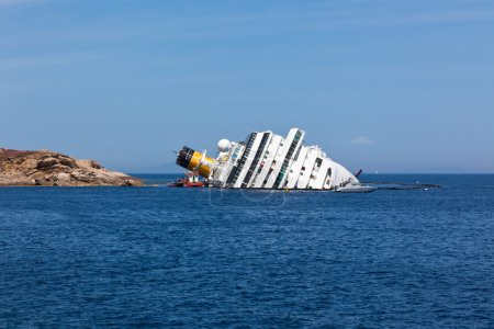 GIGLIO, ITALY - APRIL 28, 2012: Costa Concordia Cruise Ship at I
