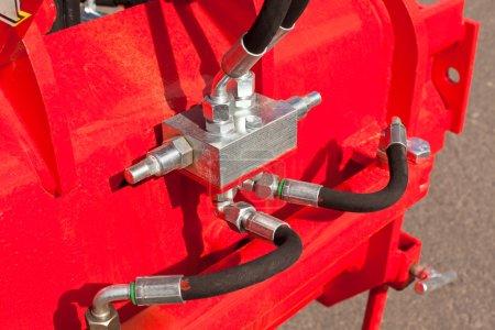 Hydraulic System Hoses on Machine