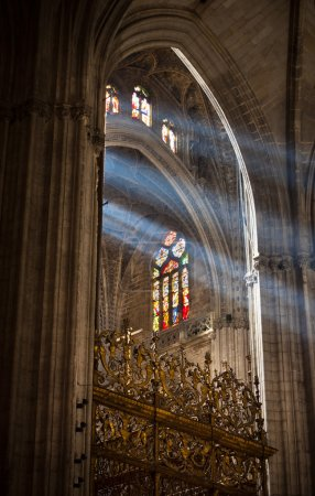 Sunbeams in Sevilla Cathedral, Spain
