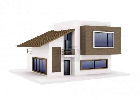 Photo for Exterior of modern private house - Royalty Free Image