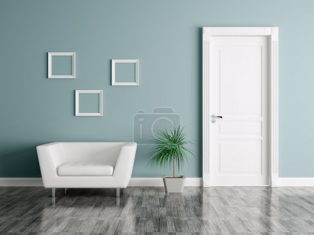 Photo for Interior of a room with door and armchair - Royalty Free Image