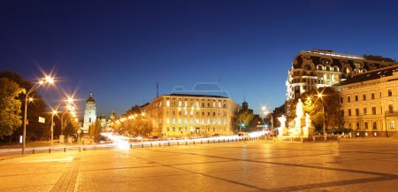 Panoramic view of Sofia square in Kyiv