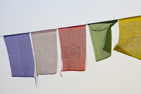 Buddhist praying flags