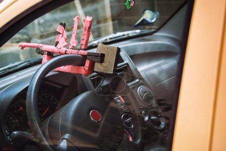 Photo pour Volant de sécurité véhicule antivol - production nationale - image libre de droit