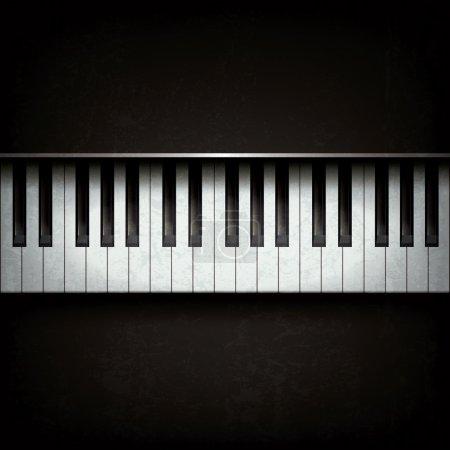 Illustration pour Abstract grunge background avec piano sur fond noir - image libre de droit