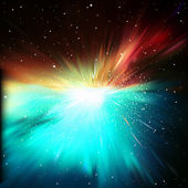 Abstrakt Hintergrund mit Sternen und supernova