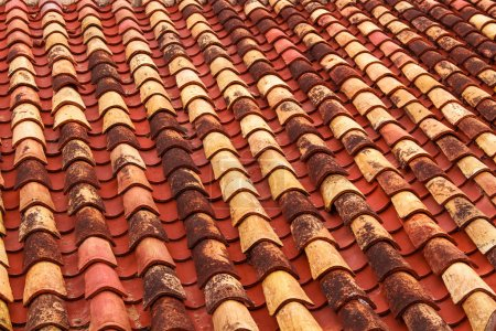Old roof tiles backround.