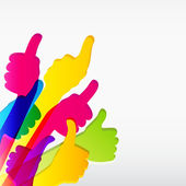 Like and Thumbs Up symbol Abstract background