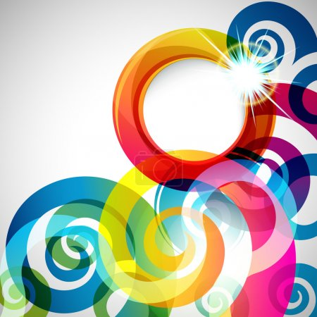 Illustration for Abstract background with vector design elements. - Royalty Free Image